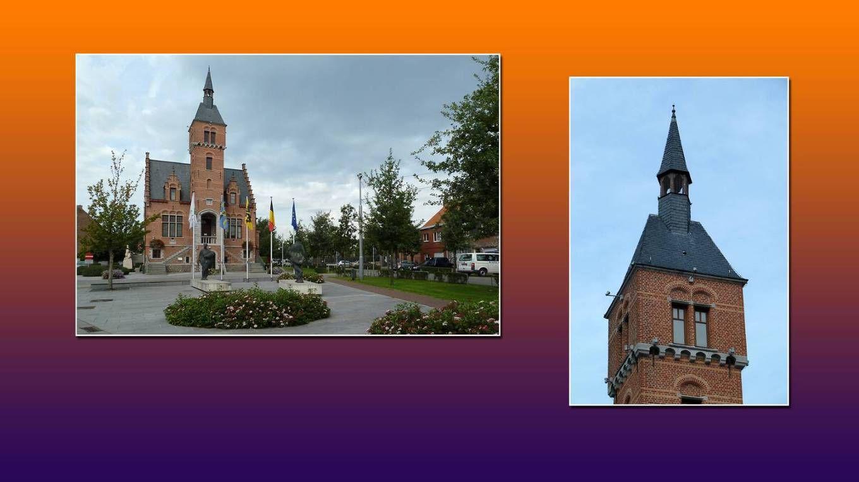 Dorpskern te Vinderhoute ten westen van Gent.