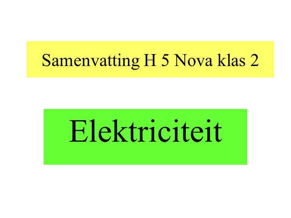 Samenvatting H 5 Nova klas 2 Elektriciteit
