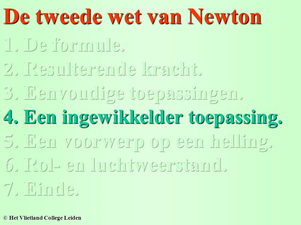 De tweede wet van Newton © Het Vlietland College Leiden