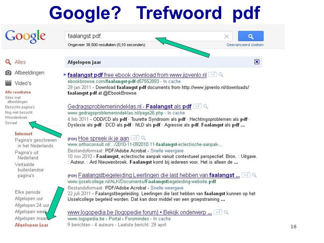 16 Google? Trefwoord pdf
