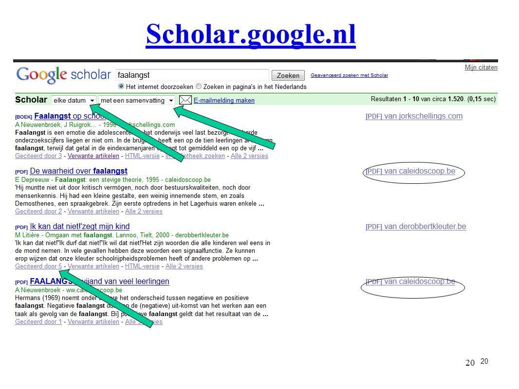 20 Scholar.google.nl 20