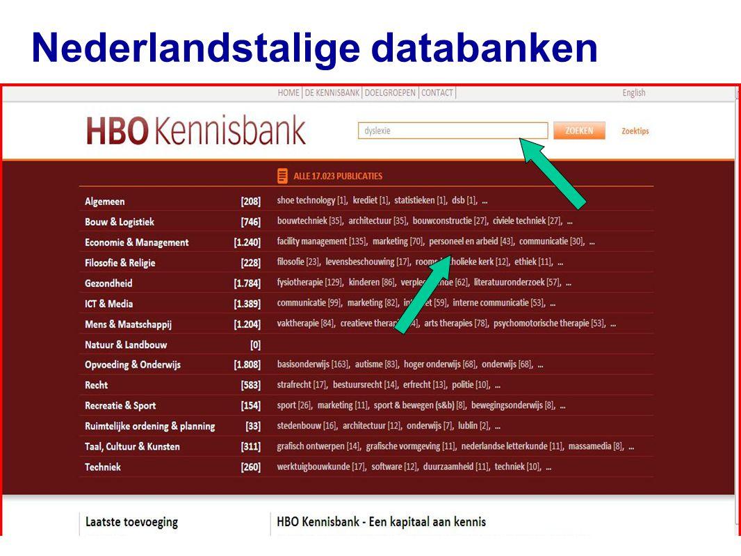 42 Nederlandstalige databanken