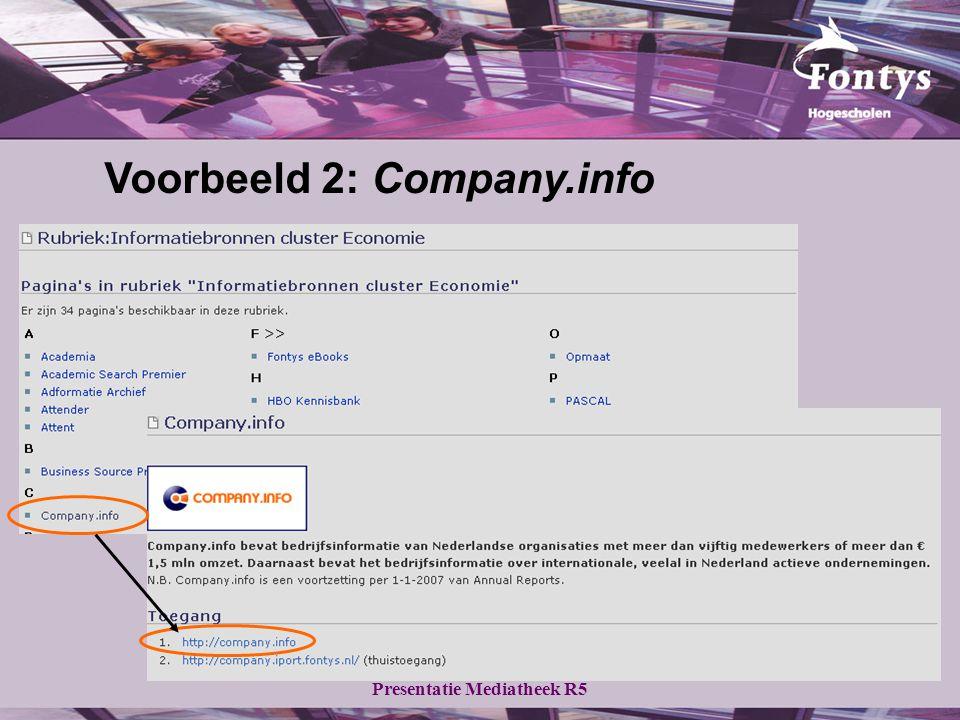 Voorbeeld 2: Company.info