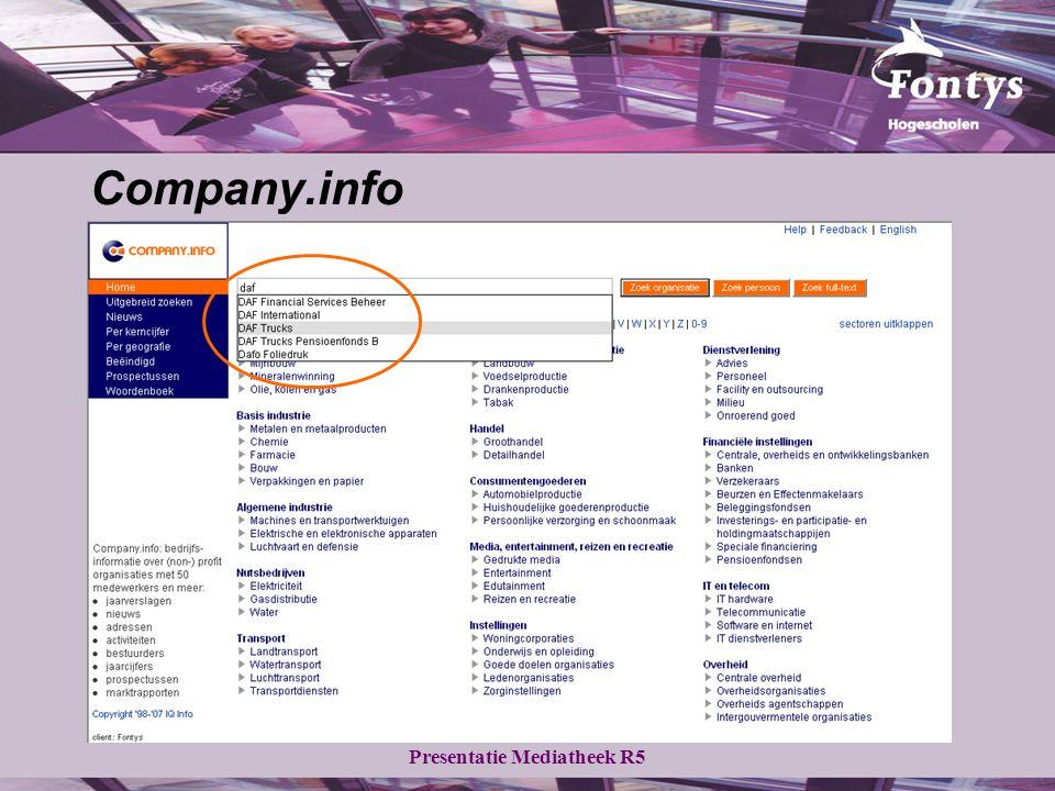 Presentatie Mediatheek R5 Company.info