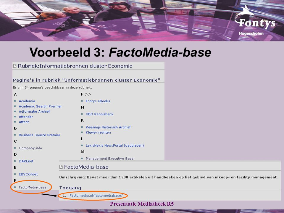 Voorbeeld 3: FactoMedia-base
