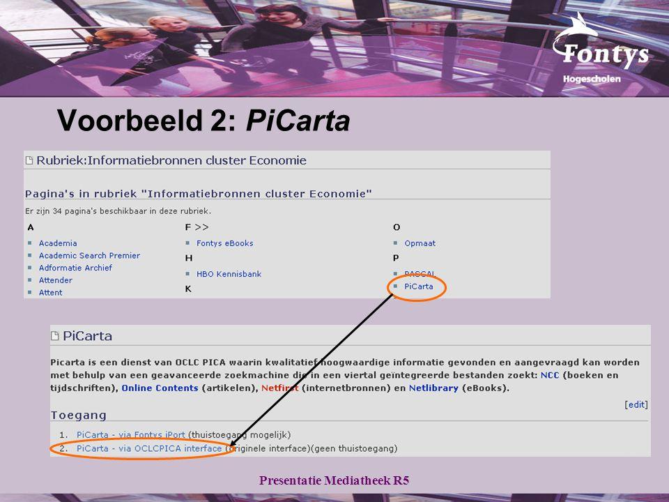 Voorbeeld 2: PiCarta