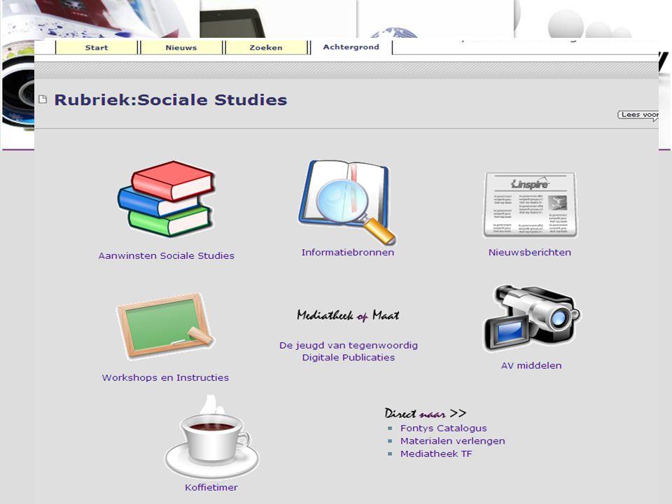 Workshop Informatievaardigheden Online, digitaal, via directe link: http://www.fontysmediatheek.nl/informatievaardig heden of via Mediatheek website voor Sociale Studies: http://www.fontysmediatheek.nl/informatievaardig heden