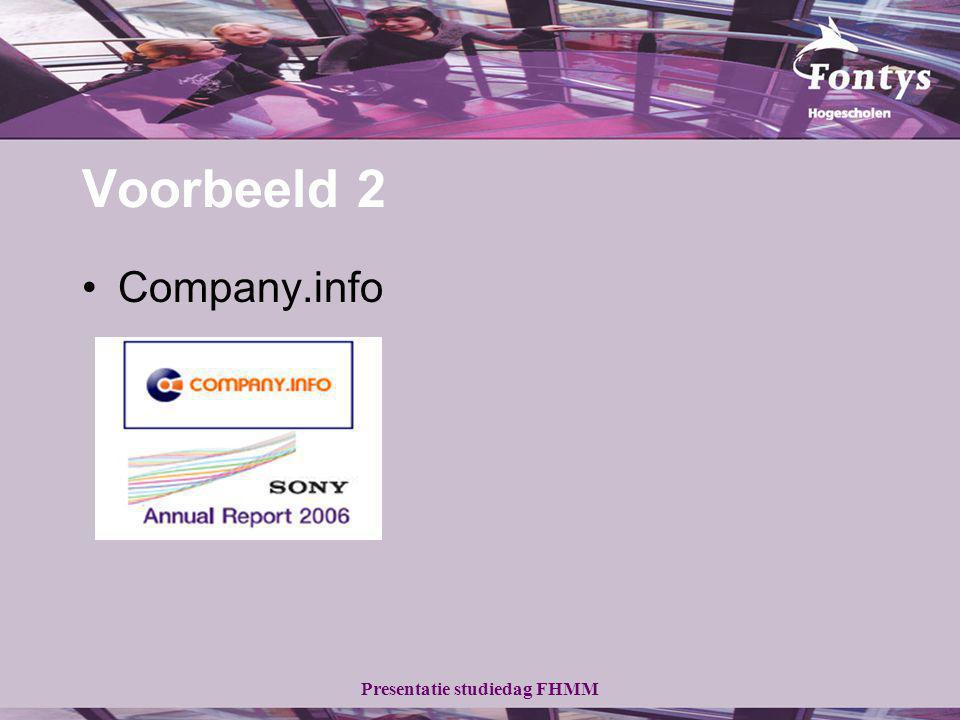 Voorbeeld 2 Company.info