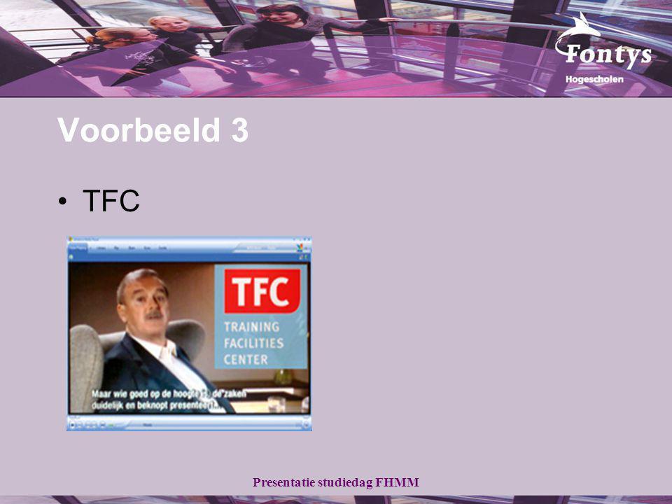 Voorbeeld 3 TFC