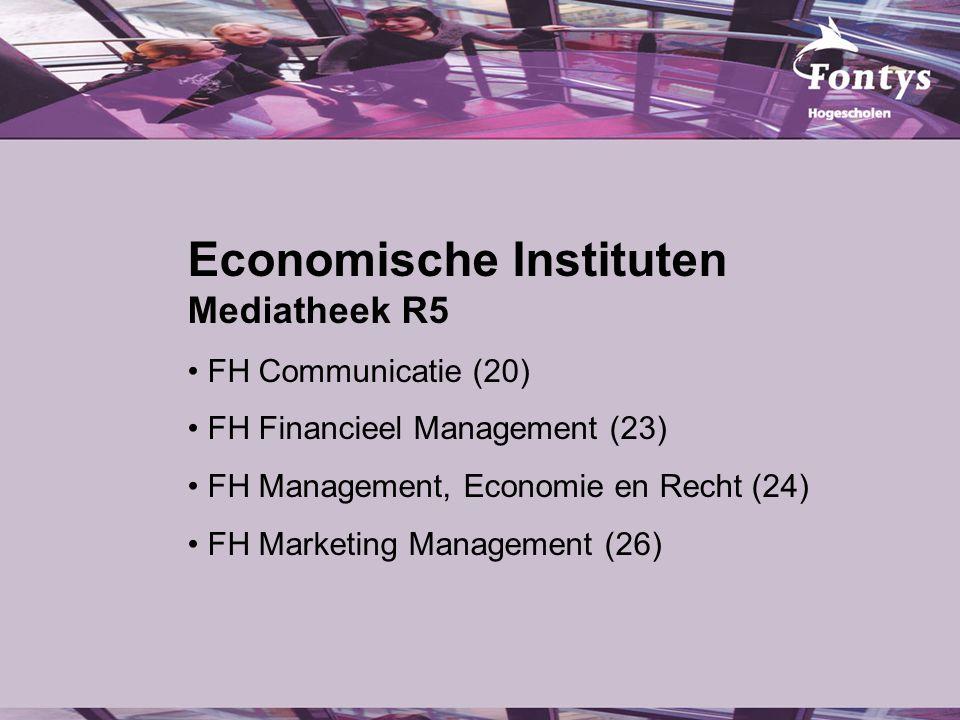 Facts & Figures Economische Instituten Aantal studenten: ca.