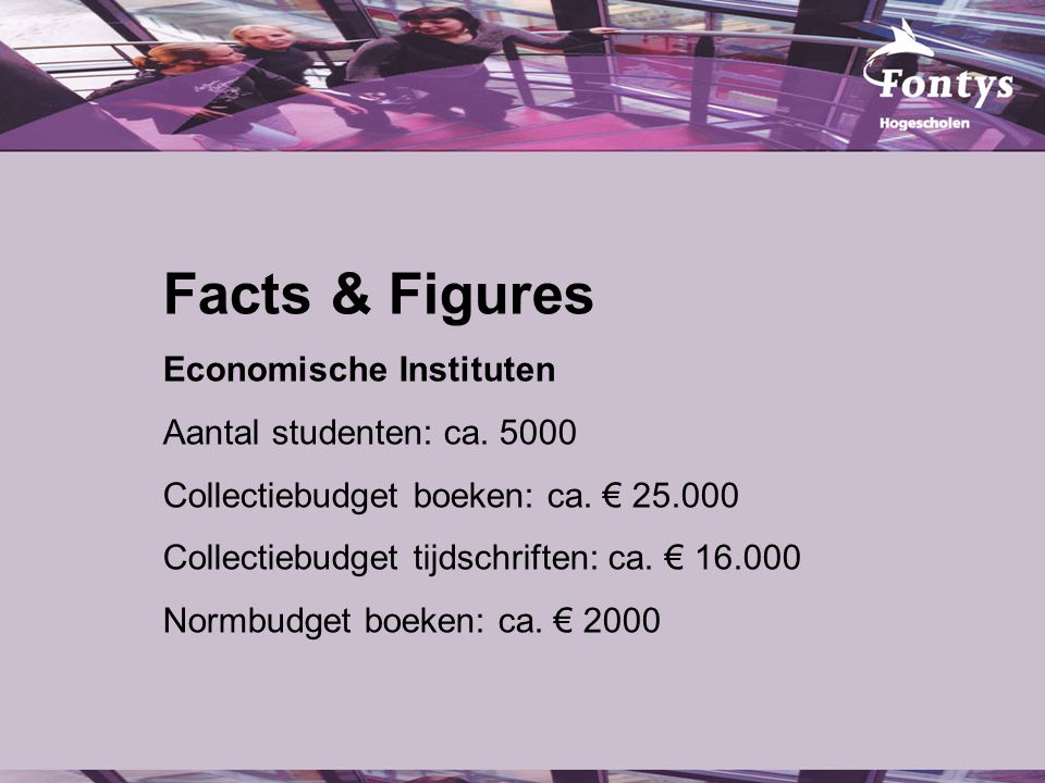 Facts & Figures Economische Instituten Aantal studenten: ca.