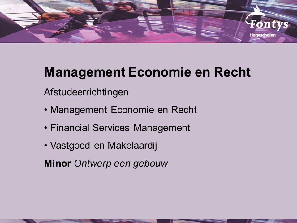Management Economie en Recht Afstudeerrichtingen Management Economie en Recht Financial Services Management Vastgoed en Makelaardij Minor Ontwerp een gebouw
