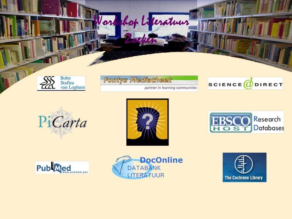 Workshop Literatuur Zoeken