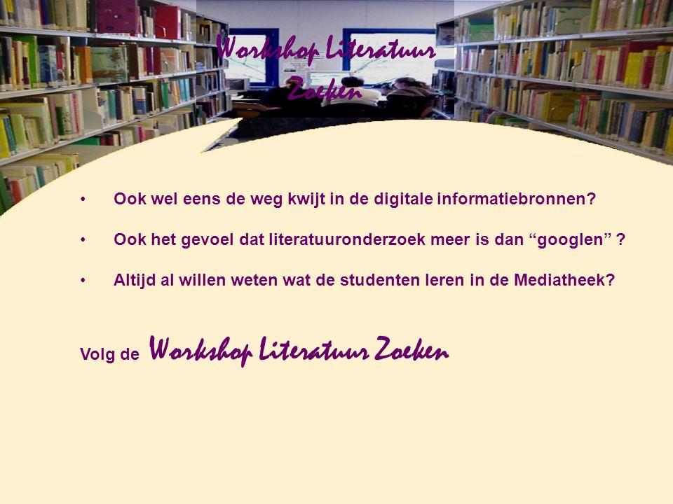 """Ook wel eens de weg kwijt in de digitale informatiebronnen? Ook het gevoel dat literatuuronderzoek meer is dan """"googlen"""" ? Altijd al willen weten wat"""