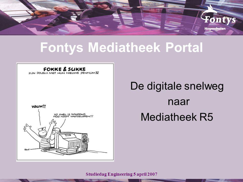 Studiedag Engineering 5 april 2007 Mediatheek R5 - Dé partner in learning communities -