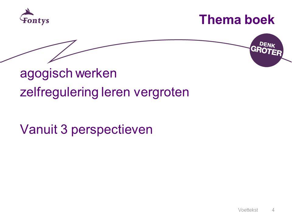 Voettekst4 Thema boek agogisch werken zelfregulering leren vergroten Vanuit 3 perspectieven