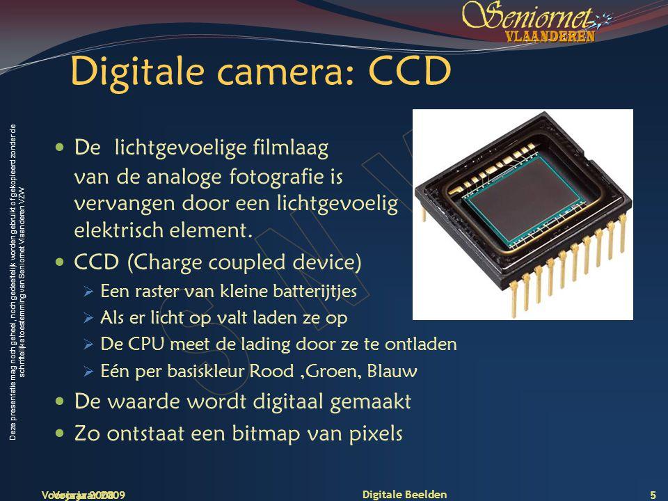 Deze presentatie mag noch geheel, noch gedeeltelijk worden gebruikt of gekopieerd zonder de schriftelijke toestemming van Seniornet Vlaanderen VZW Voorjaar 2009 Digitale Beelden 26 Meer details…