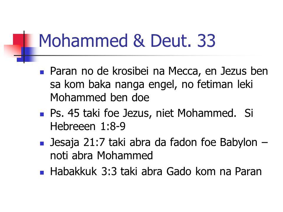 Mohammed & Deut.