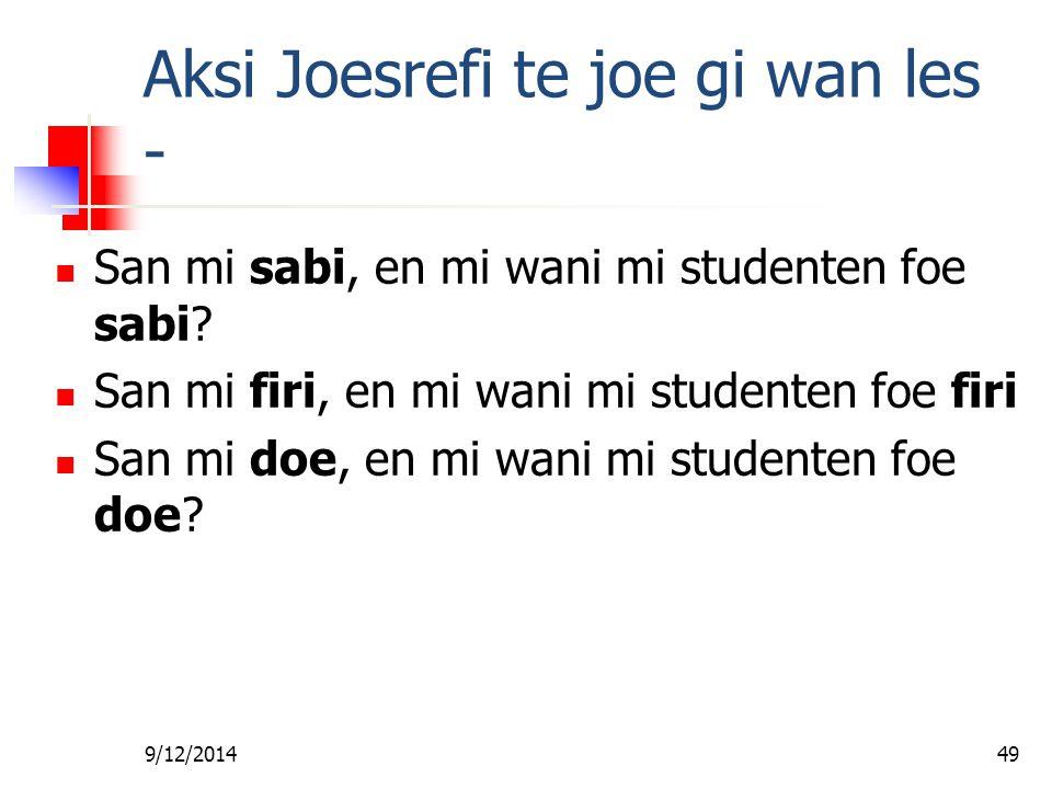 9/12/201448 Joe de da boskopoe Gado lobi foe sori Hem waarheid na ini da libi foe wan soema A ben doe disi nanga Jezus, en A wani wi foe sori fa Jezus