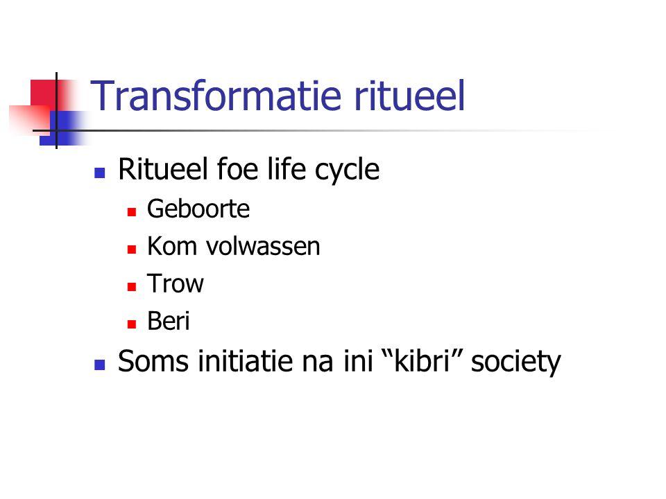 Transformatie ritueel Ritueel foe life cycle Geboorte Kom volwassen Trow Beri Soms initiatie na ini kibri society