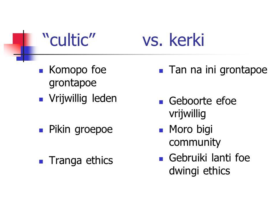 cultic vs.
