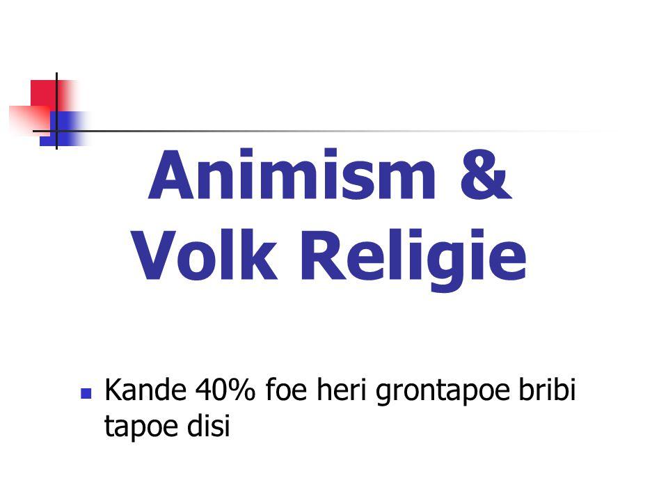 Animism & Volk Religie Kande 40% foe heri grontapoe bribi tapoe disi