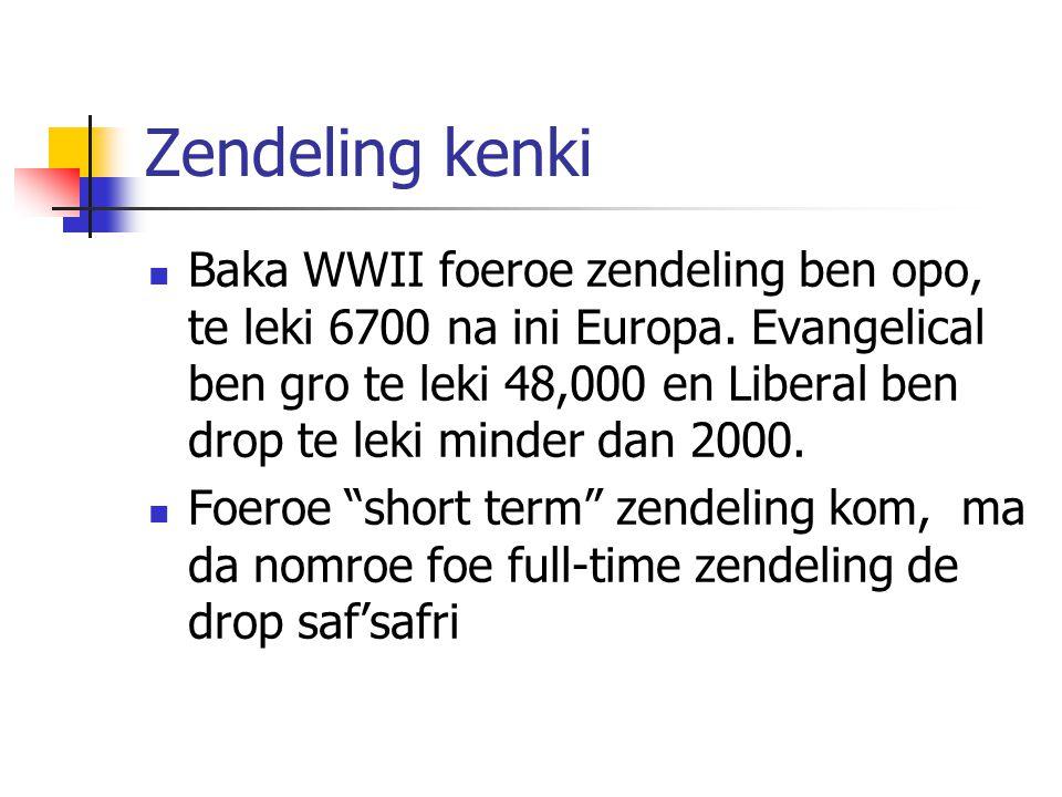 Zendeling kenki Baka WWII foeroe zendeling ben opo, te leki 6700 na ini Europa.