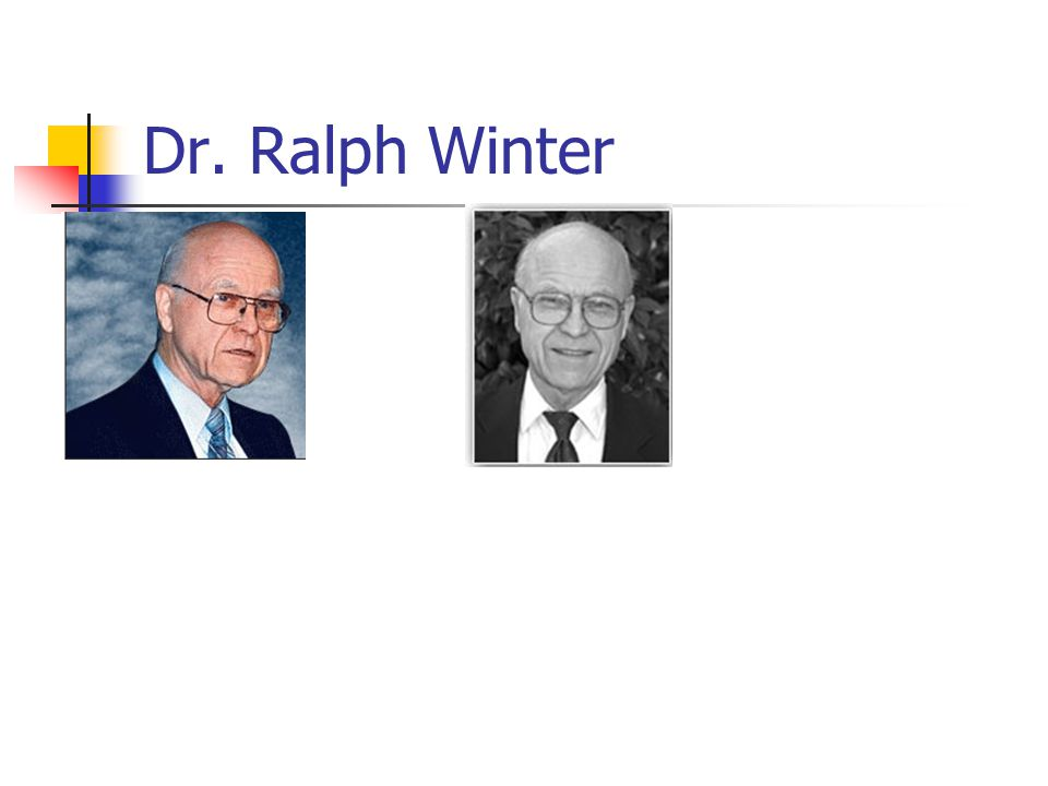 Dr. Ralph Winter