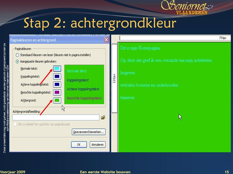 Deze presentatie mag noch geheel, noch gedeeltelijk worden gebruikt of gekopieerd zonder de schriftelijke toestemming van Seniornet Vlaanderen VZW Sta