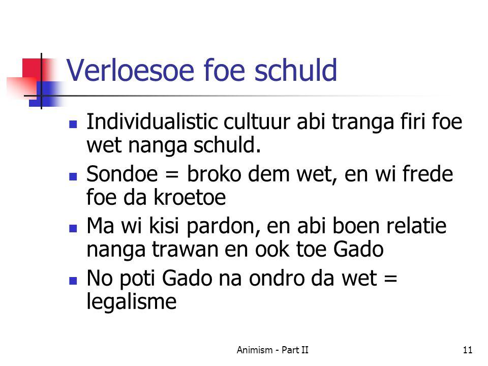 Verloesoe foe schuld Individualistic cultuur abi tranga firi foe wet nanga schuld.