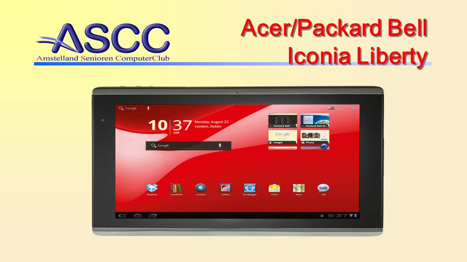 Acer/Packard Bell Iconia Liberty
