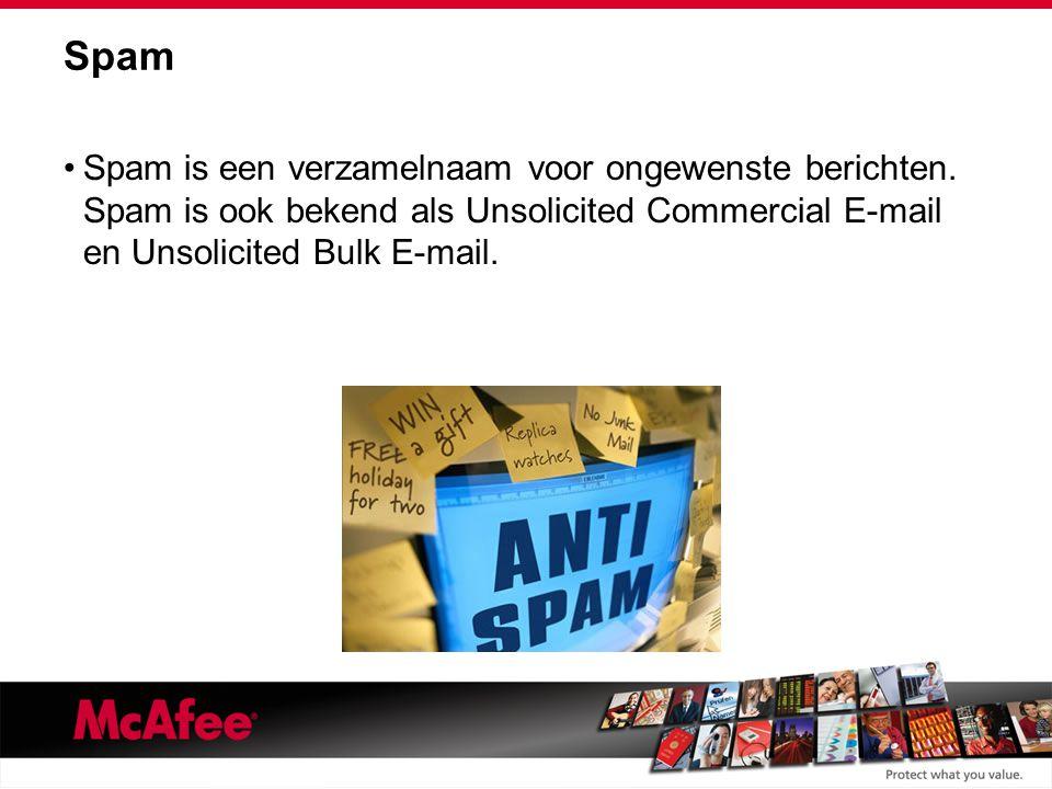 Spam Spam is een verzamelnaam voor ongewenste berichten.