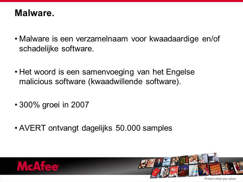 Malware. Malware is een verzamelnaam voor kwaadaardige en/of schadelijke software.