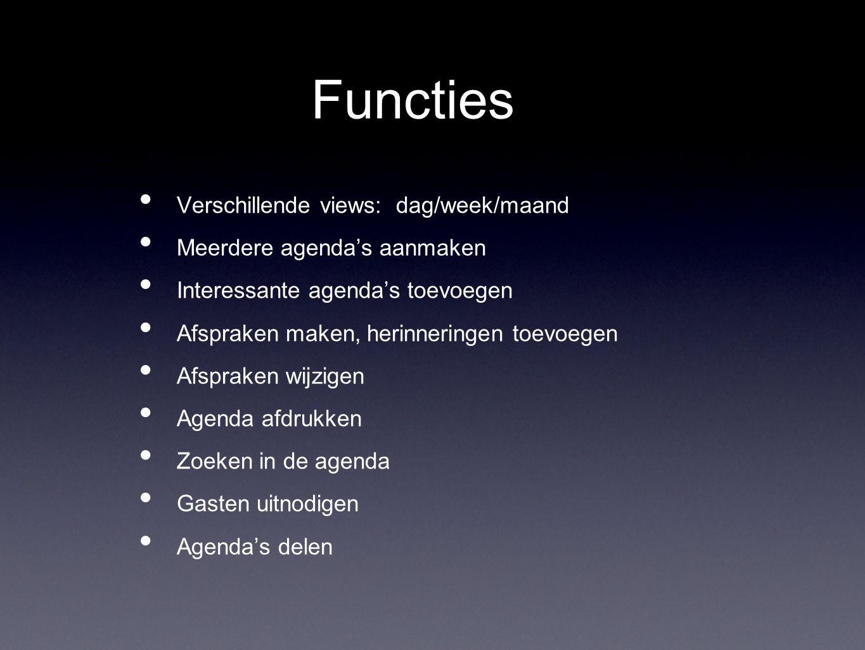 Meer functies...