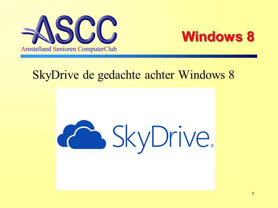 Windows 8 SkyDrive de cloud - funktie van Microsoft 8 Tablet Telefoon PC Uw bestanden, documenten, foto's, enz.