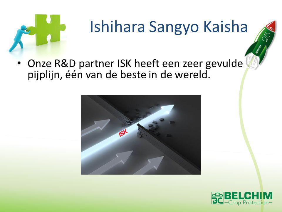 Ishihara Sangyo Kaisha Onze R&D partner ISK heeft een zeer gevulde pijplijn, één van de beste in de wereld.