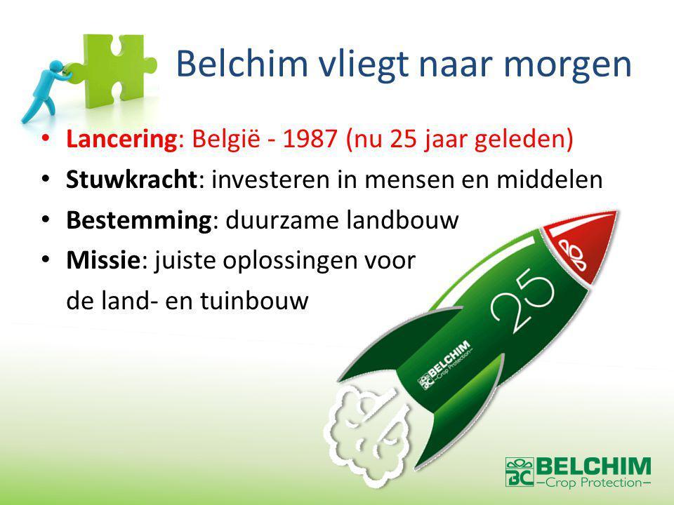 De toekomst van Belchim BCP => eigen dossiers ISK => nieuwe actieve stoffen FMC => optimalisatie van bestaande middelen en ontwikkelen van mengels Andere partners