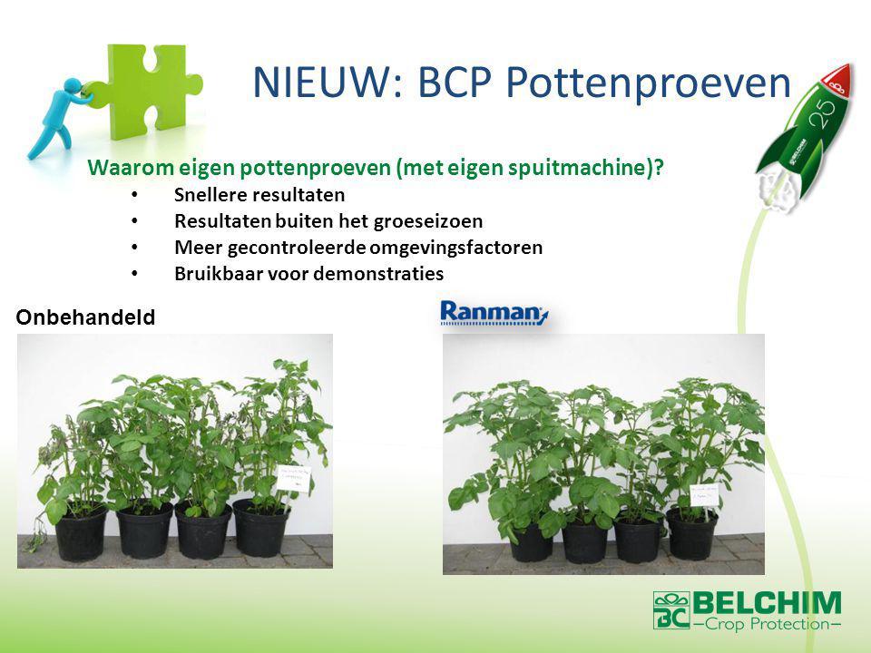 NIEUW: BCP Pottenproeven Onbehandeld Waarom eigen pottenproeven (met eigen spuitmachine).