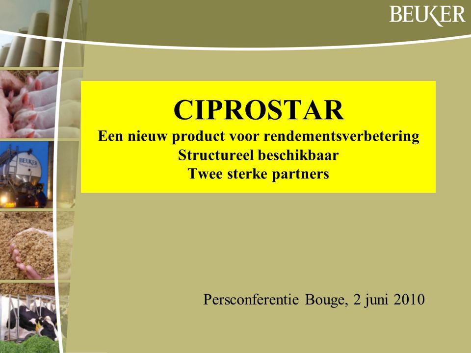 CIPROSTAR Een nieuw product voor rendementsverbetering Structureel beschikbaar Twee sterke partners Persconferentie Bouge, 2 juni 2010