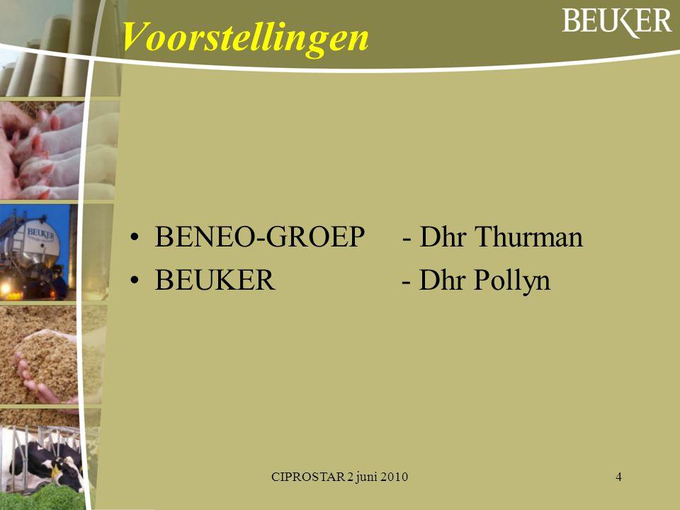 Voorstellingen BENEO-GROEP - Dhr Thurman BEUKER- Dhr Pollyn CIPROSTAR 2 juni 20104