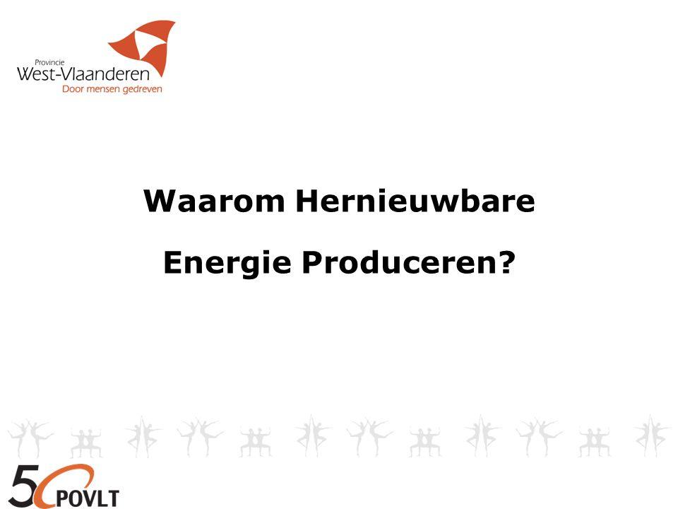 Waarom Hernieuwbare Energie Produceren?