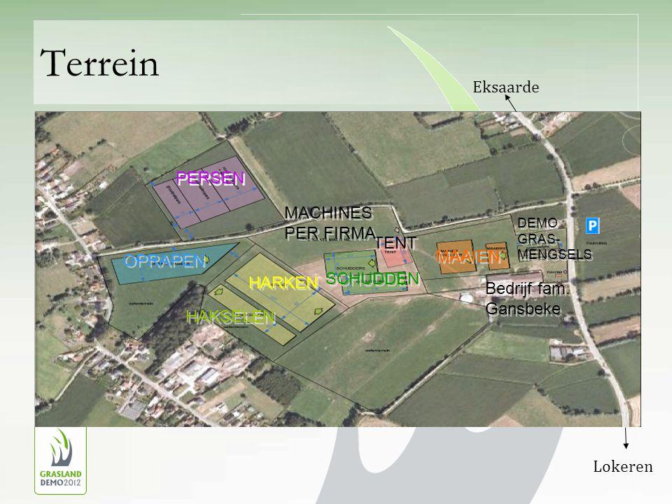 Terrein DEMO GRAS- MENGSELS TENT Bedrijf fam. Gansbeke TENT Bedrijf fam.