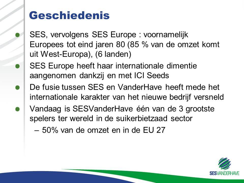 Geschiedenis SES, vervolgens SES Europe : voornamelijk Europees tot eind jaren 80 (85 % van de omzet komt uit West-Europa), (6 landen) SES Europe heef