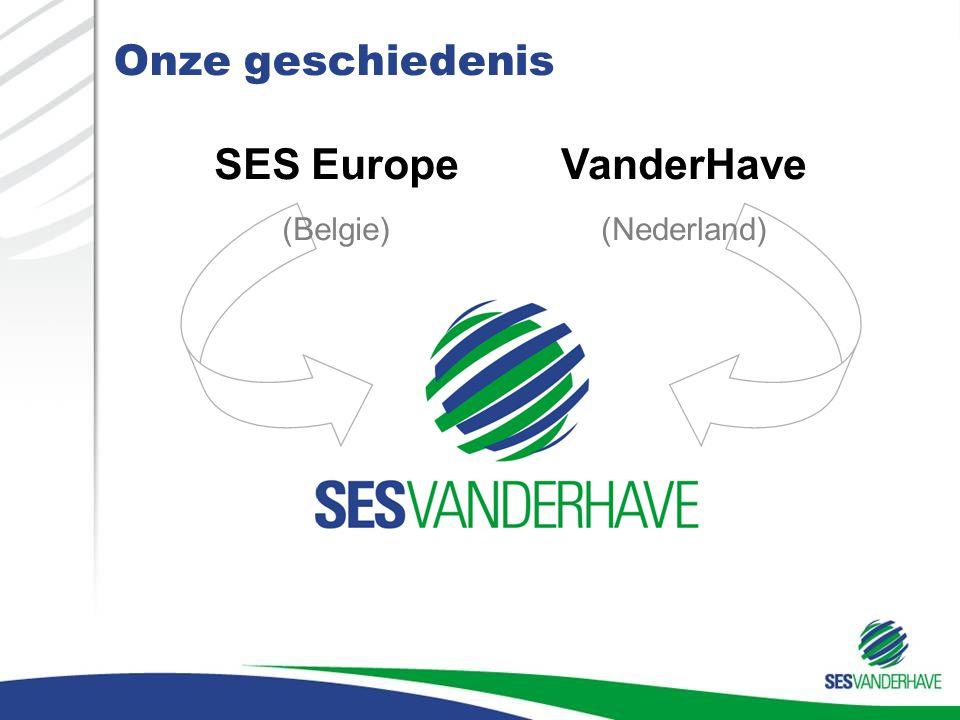 Onze geschiedenis SES Europe (Belgie) VanderHave (Nederland)