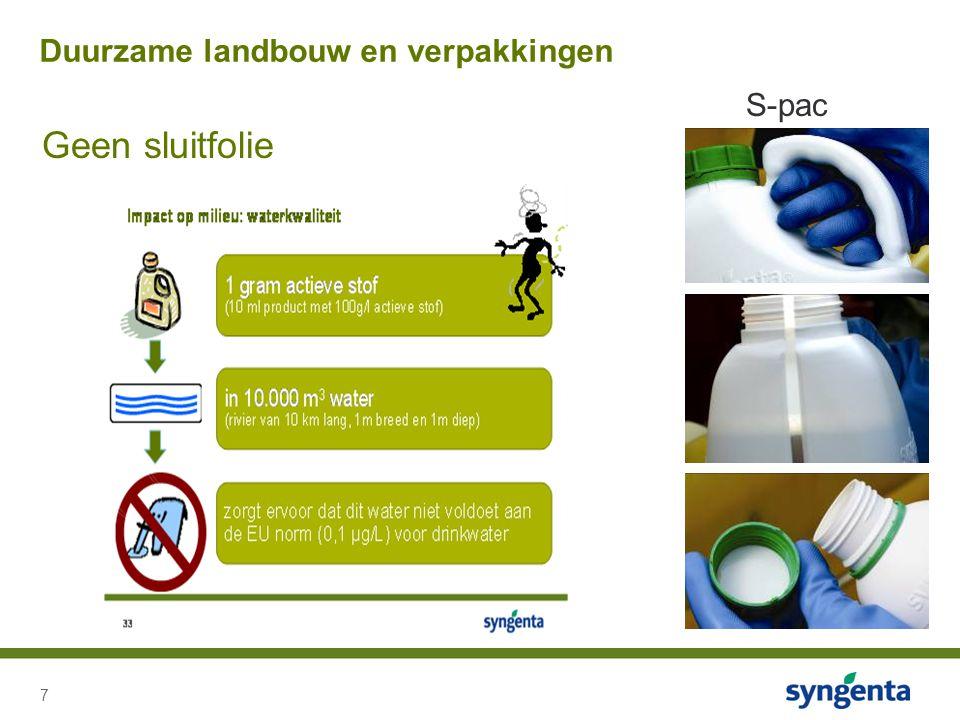 7 Geen sluitfolie Duurzame landbouw en verpakkingen S-pac