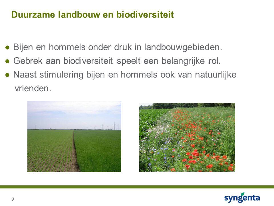 9 ●Bijen en hommels onder druk in landbouwgebieden.