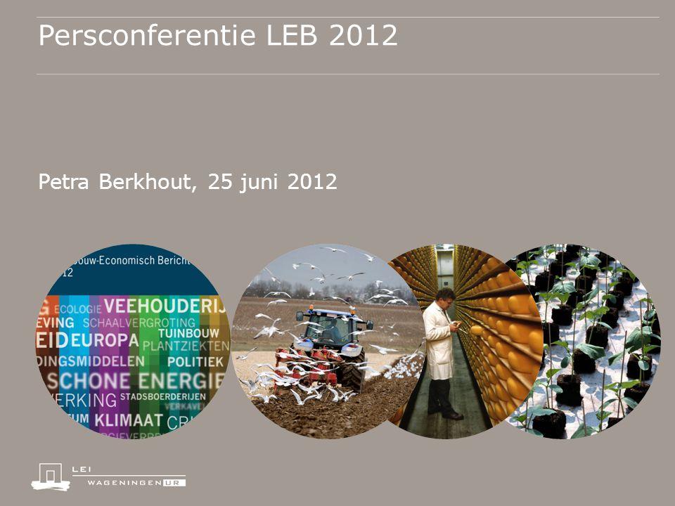 Persconferentie LEB 2012 Petra Berkhout, 25 juni 2012