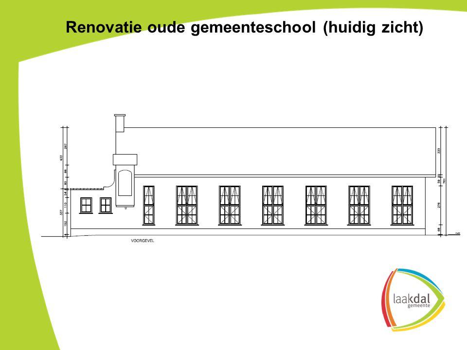 Renovatie oude gemeenteschool (huidig zicht)