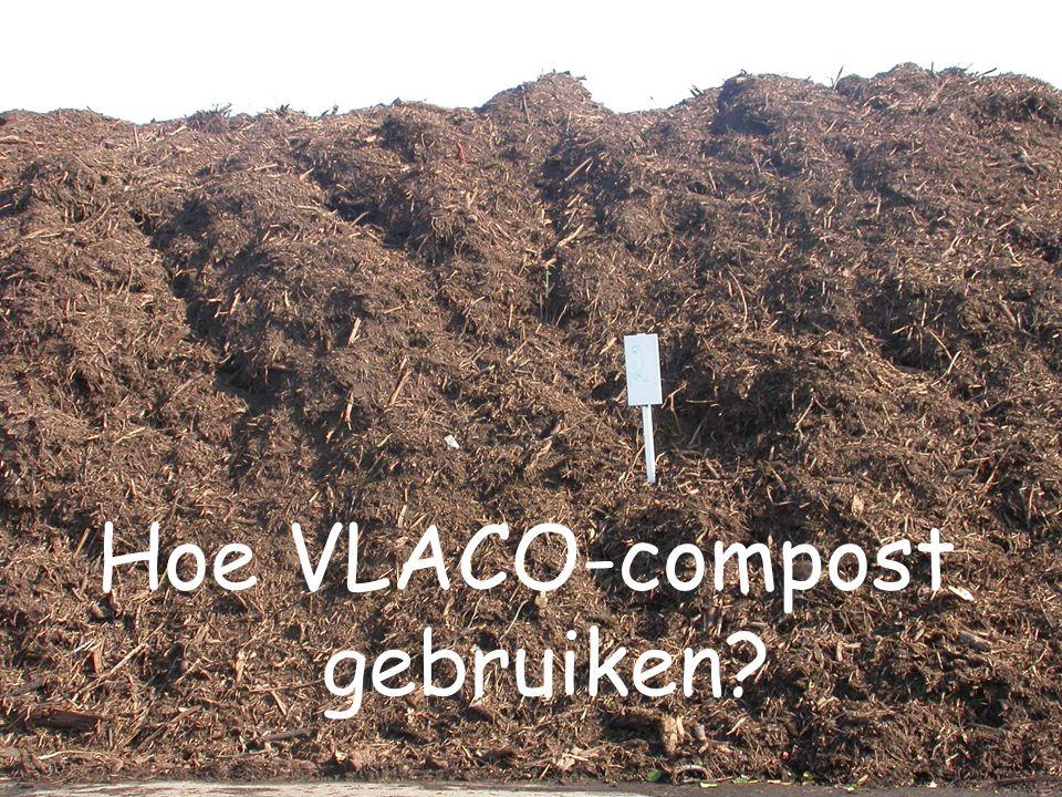 VLAAMSE COMPOSTORGANISATIE VZW Hoe VLACO-compost gebruiken?