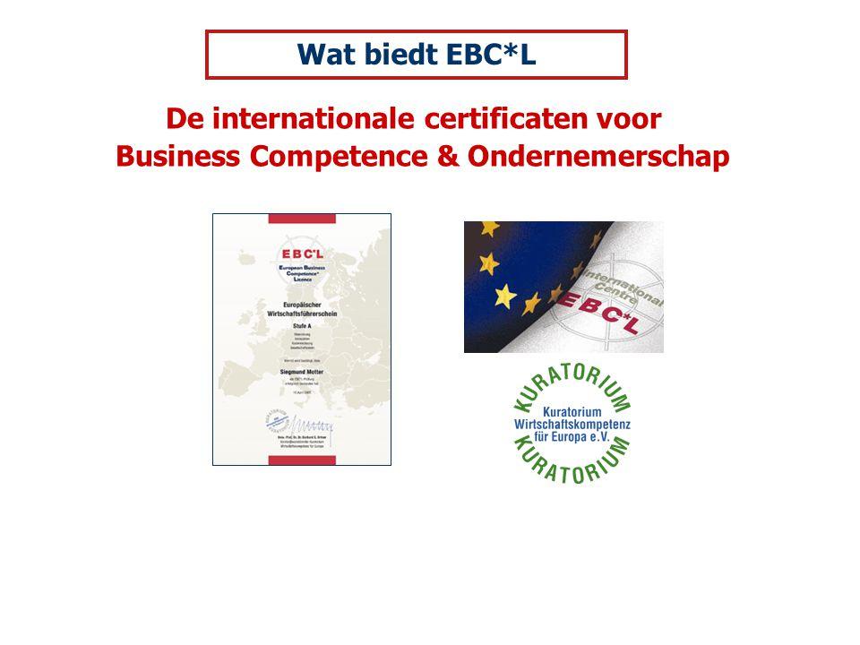 De internationale certificaten voor Business Competence & Ondernemerschap Wat biedt EBC*L